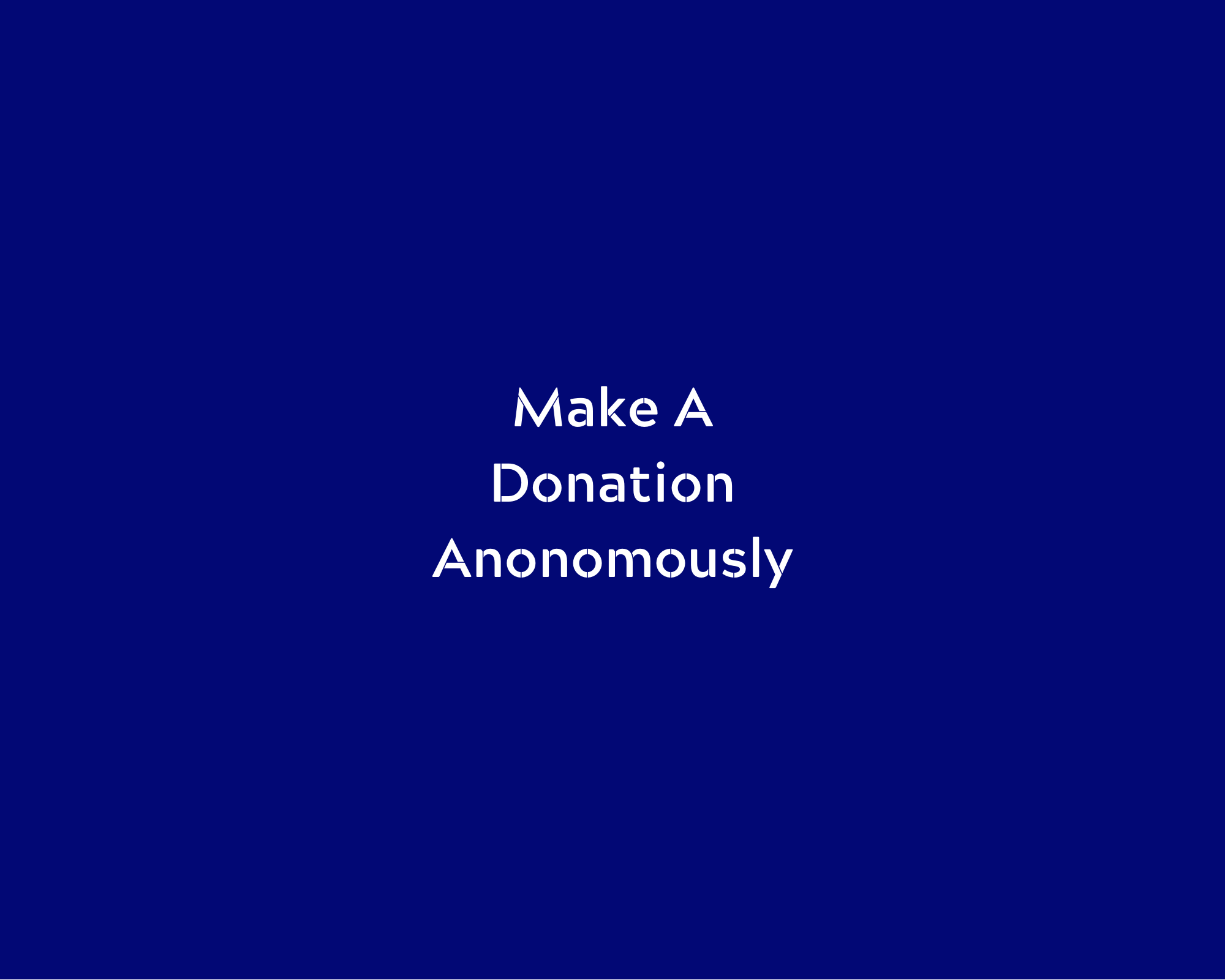 donate anonymously